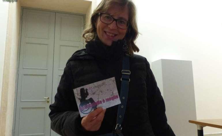 La giornalista Marina Zerman di Telepace testimone di accessibilità per dismappa