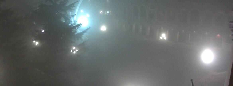 20141227 Piazza Bra nebbia Verona