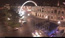 Pronto il palco del concerto di fine anno in Piazza Bra