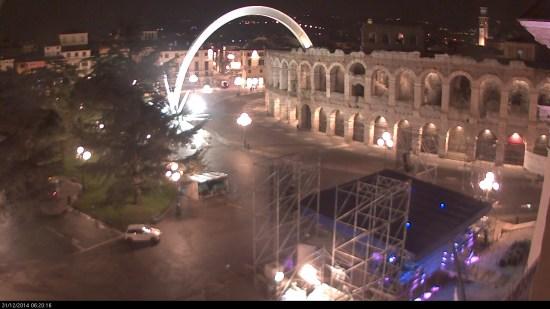 20141231 Palco concerto capodanno Arena Verona webcam
