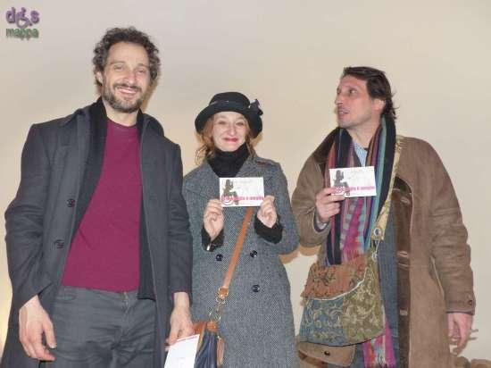 Claudio Santamaria, Valentina Picello e Marcello Prayer, dopo il successo di Gospodin per l'Altro Teatro, testimoni di accessibilità per dismappa al Teatro  Camploy di Verona