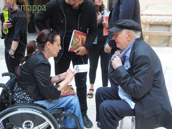 """Il premio Nobel Dario Fo ha testimoniato per dismappa alla presentazione della mostra """"Dario Fo dipinge Maria Callas"""", ma purtroppo il file si è rovinato e resta solo l'inizio del suo discorso che terminava con La civiltà di un Paese si misura dal livellamento delle barriere architettoniche"""