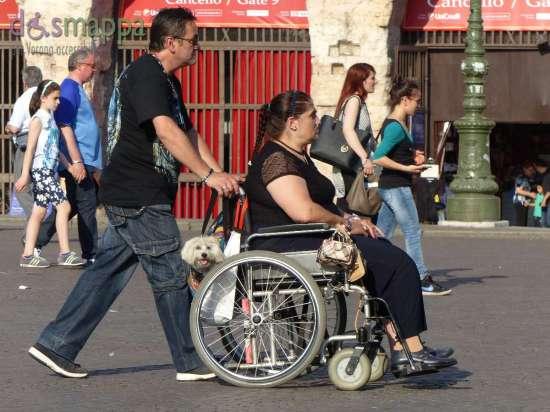 20150602 Signora disabile carrozzina cane Verona dismappa 1