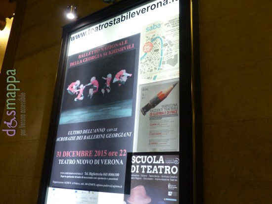 BALLETTO NAZIONALE DELLA GEORGIA SUKHISHVILI  direttore artistico ILJA SUKHISHVILI  Coreografia ILIKO SUKHISHVILI Sr., NINO RAMISHVILI e ILIKO SUKHISHVILI Jr.  Costumi SOLIKO VIRSALADZE, NINO SUKHISHVILI  musica dal vivo eseguita dall'Orchestra del Balletto Nazionale della Georgia SUKHISHVILI  Brindisi di mezzanotte nel Foyer e nel Piccolo Teatro di Giulietta (Ridotto)     GRANDE SPETTACOLO DI DANZE FOLCLORISTICHE E ACROBATICHE GEORGIANE CON MUSICHE DAL VIVO  Grande evento artistico al Teatro Nuovo di Verona giovedì 31 dicembre 2015 alle ore 22 con il travolgente spettacolo del  Balletto Nazionale della Georgia Sukhishvili, spettacolo di danze folcloristiche ed acrobatiche georgiane.