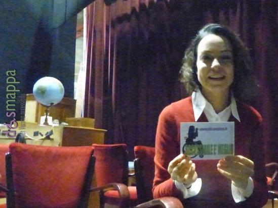 L'attrice Stefania Rocca, in scena al Teatro Nuovo di Verona con Scandalo, testimone di accessibilità per dismappa