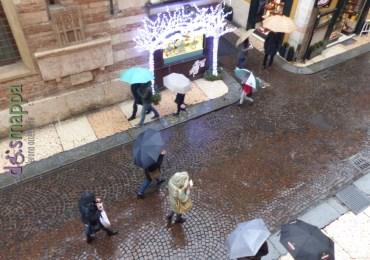 Neve Corso Porta Borsari dismappa Verona