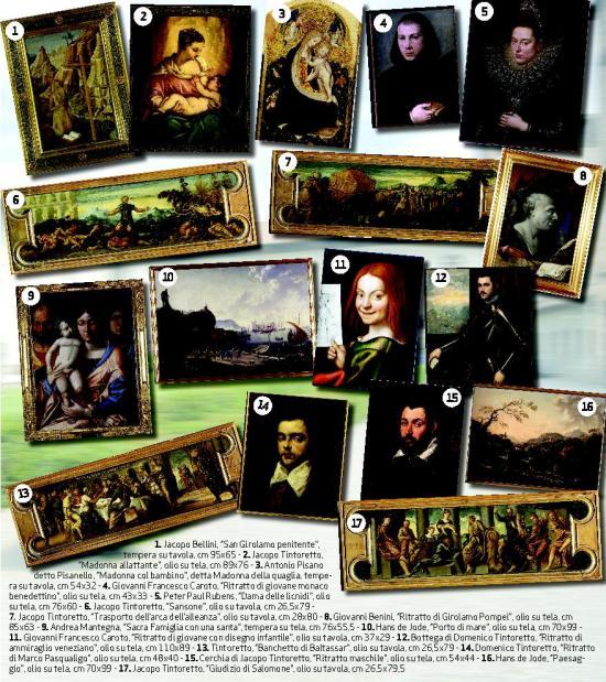 I quadri di Mantegna, Pisanello, Tintoretto, Rubens, Mantegna, Caroto rubati al Museo di Castelvecchio di Verona