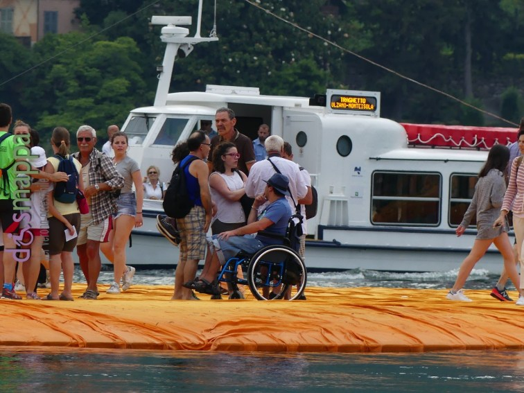 20160629 Christo Floating Piers Jeanne Claude Iseo disabili dismappa 550