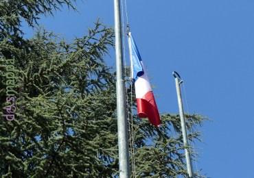 20160716 Bandiera francese Piazza Bra Verona per Nizza