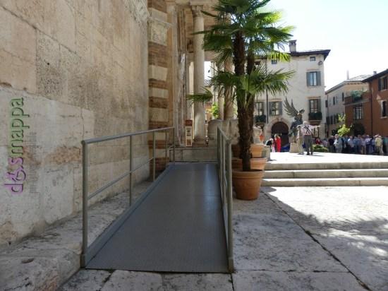 Rampa accesso disabili Cattedrale Duomo Verona