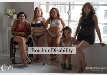 Portrait de Femme e il noto marchio di lingerie Christies, hanno ufficialmente stretto una collaborazione per un progetto innovativo, mettendo al centro l'unicità di donne con disabilità, abbattendo pregiudizi e discriminazioni verso la disabilità, perché la femminilità è un modo di sentirsi, è un saper essere, che parte da un'accettazione profonda e non da una perfezione superficiale. Nell'ambito dell'iniziativa, a 5 donne con disabilità è stata offerta la possibilità di essere protagoniste di un servizio fotografico Boudoir, realizzato da Micaela Zuliani