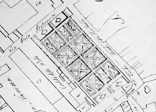 L'area dell'orto botanico nel catasto napoleonico del 1817