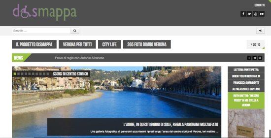il sito web dismappa dopo il restyling in occasione della giornata internazionale delle persone con disabilità