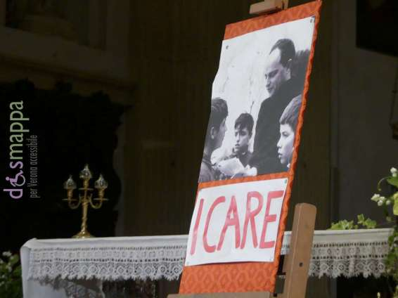 Don Milani I Care Chiesa di San Nicolò all'Arena di Verona