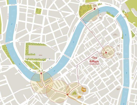 mappa festival del vino Hostaria Verona e sala di cortesia di casa dismappa
