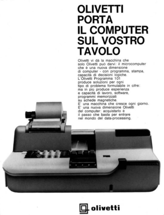 pubblicita computer olivetti p101-1