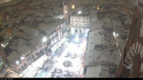 20171210 Piazza Erbe Verona neve webcam