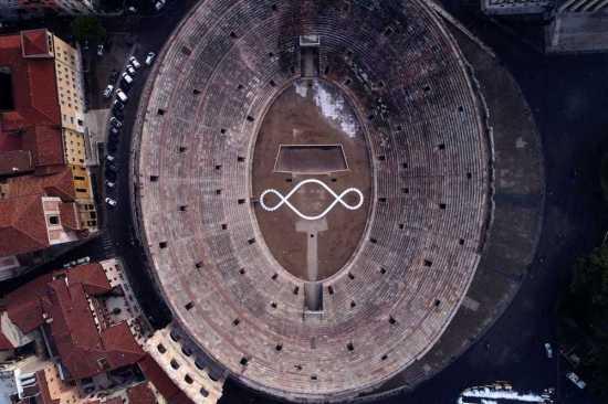 20170210 Michelangelo Pisoletto Terzo Paradiso Arena Verona 1