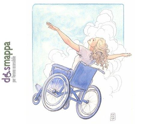 Il Maestro Milo Manara onora disMappa regalando questo bel disegno di ragazza in sedia a rotelle: grazie di cuore a Milo Manara