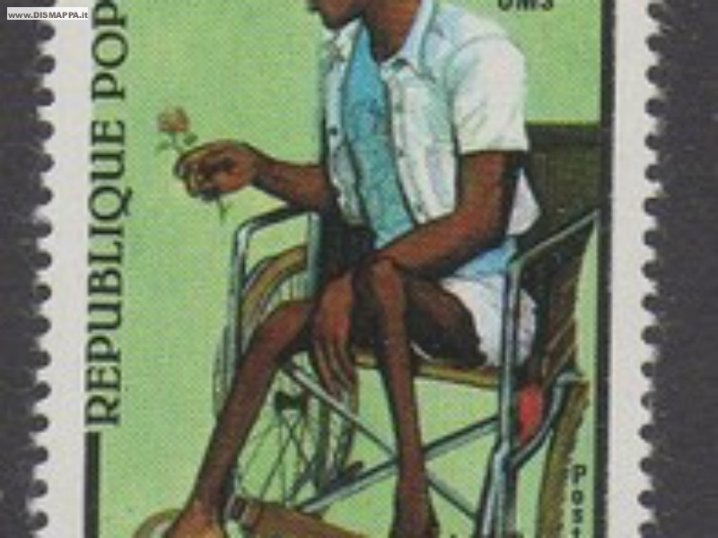 Francobolli a tema disabilità, carrozzine - Disability stamps