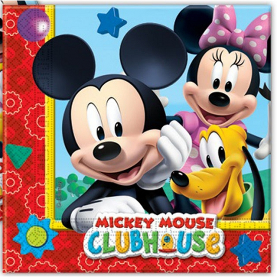 20x Mickey Mouse themafeest servetten 33 x 33 cm papier