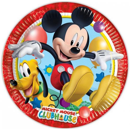 Disney feestbordjes Mickey Mouse 8 stuks