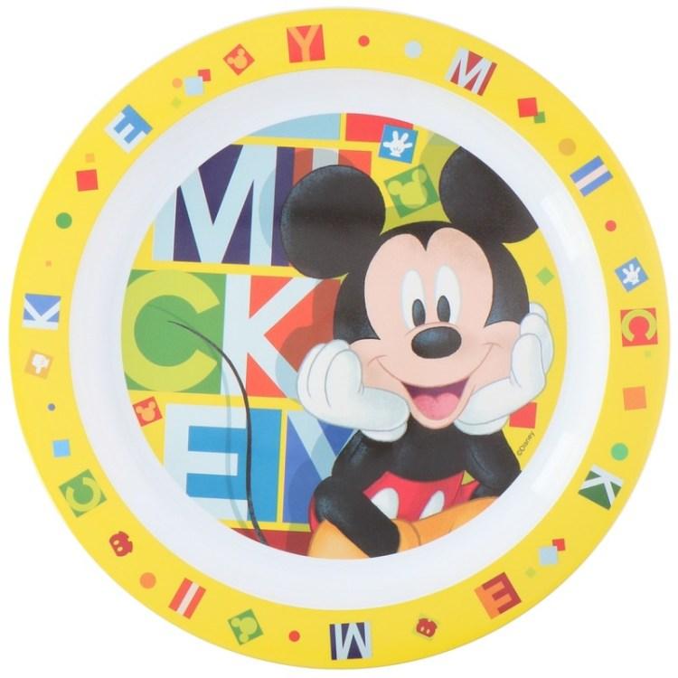 Disney Mickey Mouse ontbijtbordje 22 cm voor kinderen