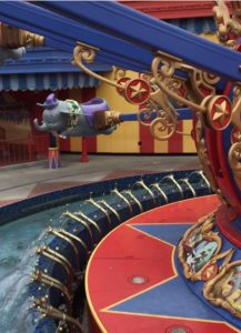 The Flying Dumbo's are one of the best rides for toddlers at Magic Kindom, Disney World.