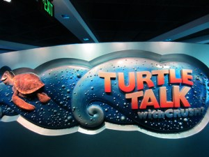 turtle talk with crush is a great ride for toddlers at Epcot