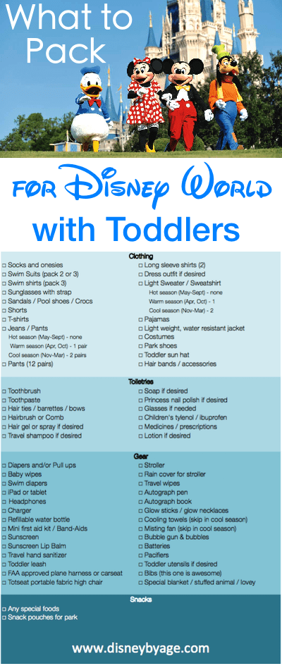 What to Pack for Disney World with Toddlers