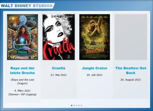 Disney Kino-Neustarts