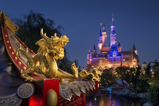 Behind the Attraction The Castles Shanghai Disney Resort Enchanted Storybook Castle 2