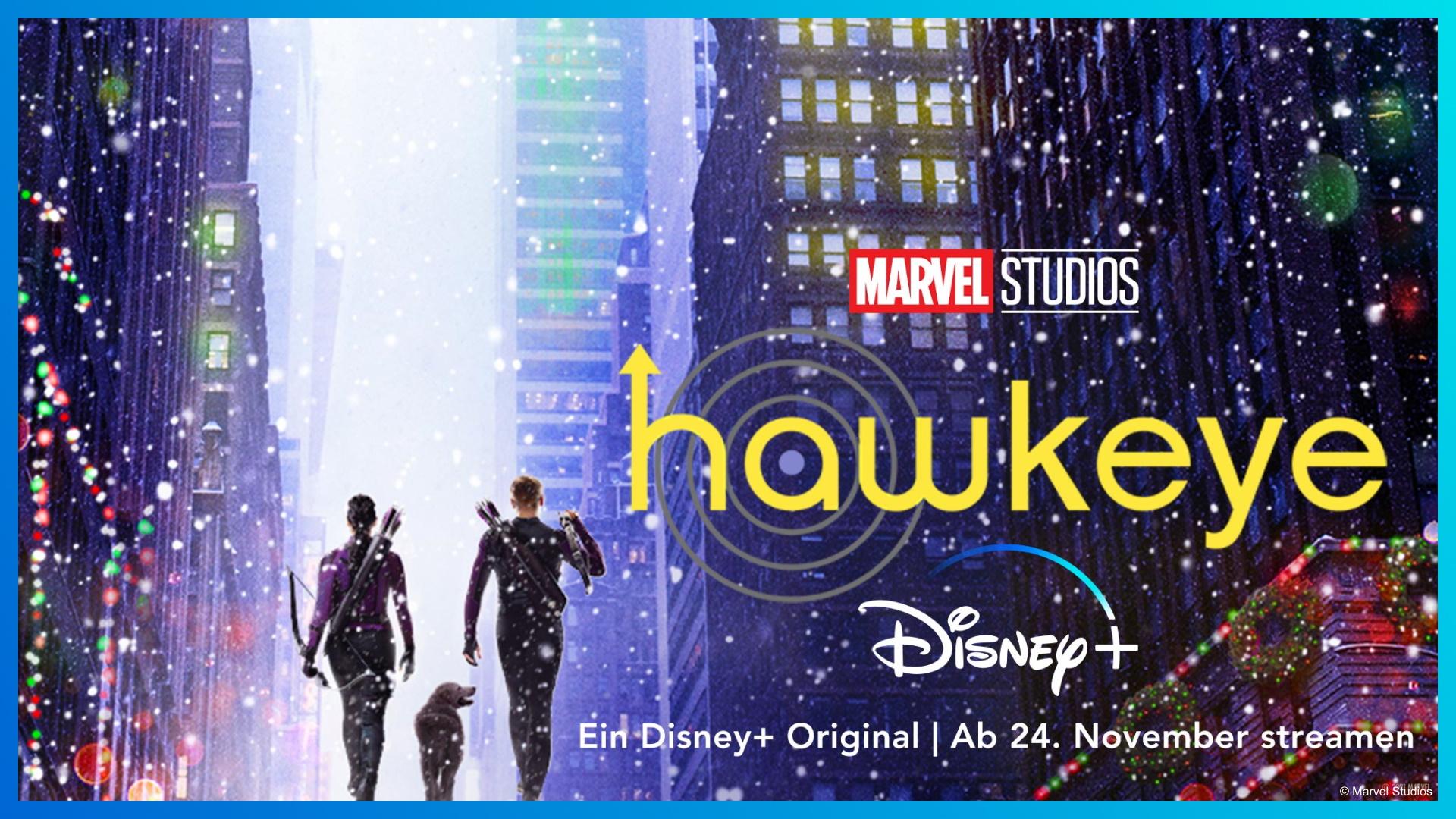 Trailer zur neuen Marvel-Serie: Weihnachtliche Action mit HAWKEYE – ab 24. November auf Disney+