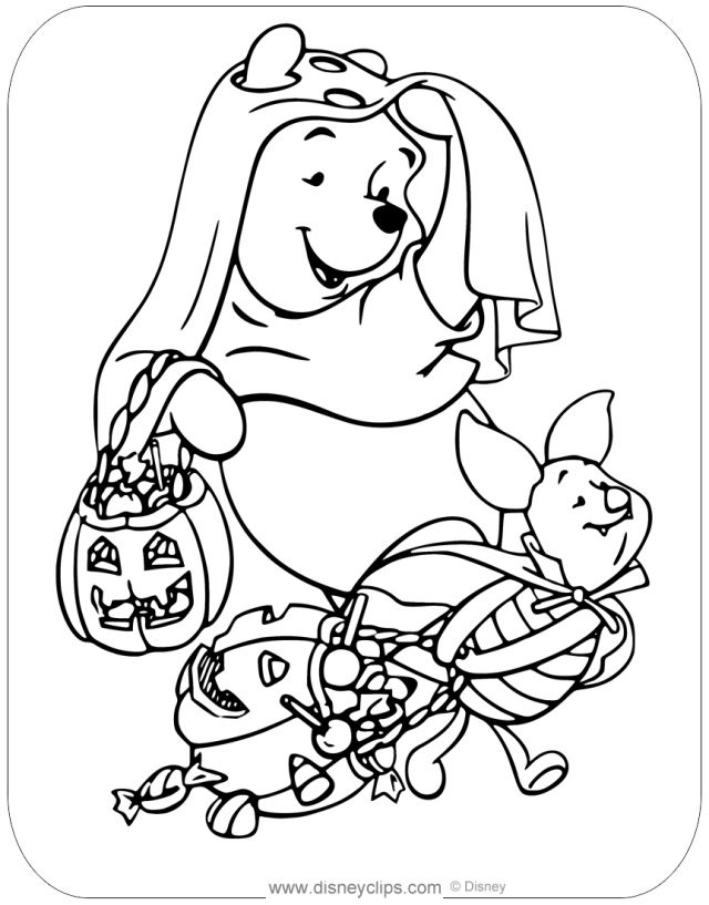 Disney Halloween Coloring Pages (17)  Disneyclips.com