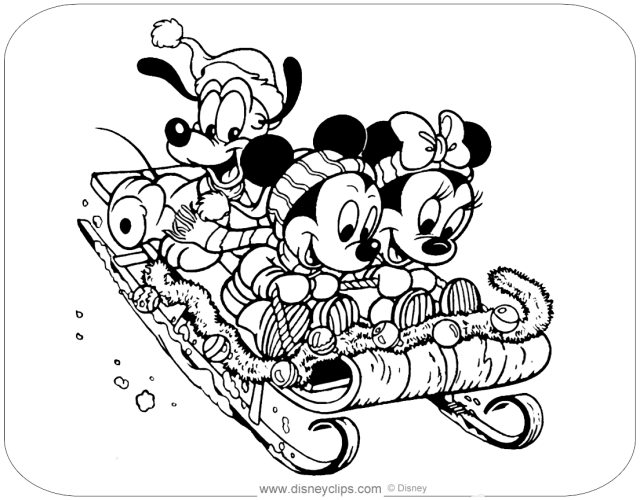 Disney Christmas Coloring Pages  Disneyclips.com