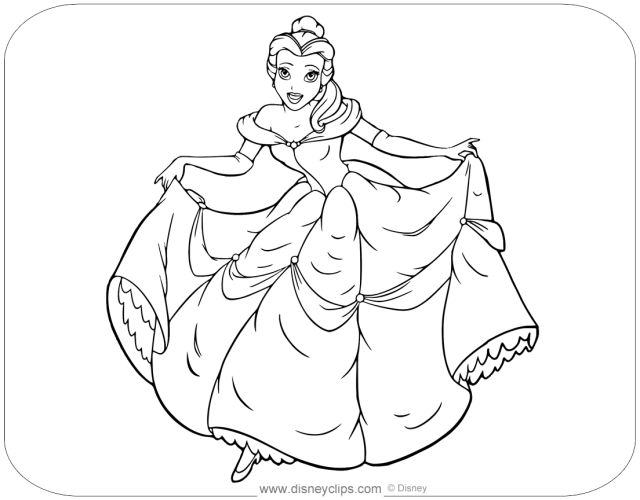 Beauty and the Beast Coloring Pages  Disneyclips.com
