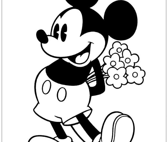 Classic Mickey Mouse Coloring Pages Disneyclips Com