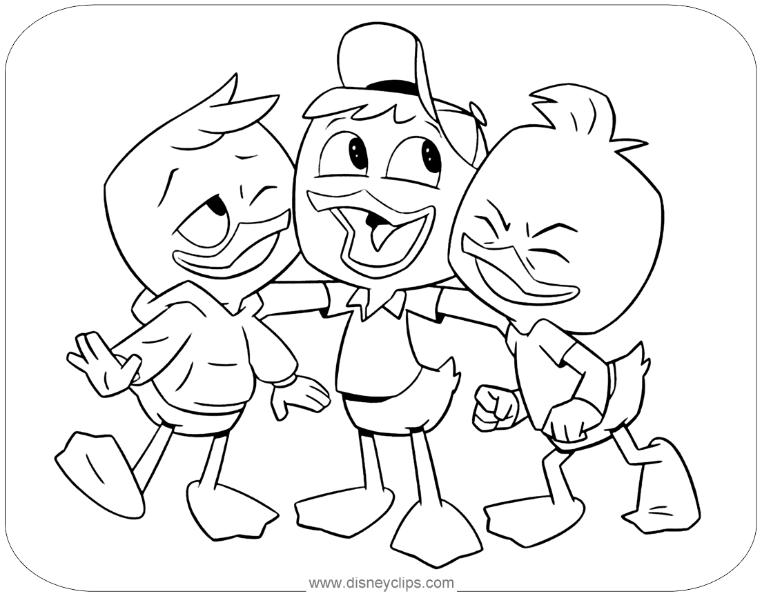 New Ducktales Coloring Pages
