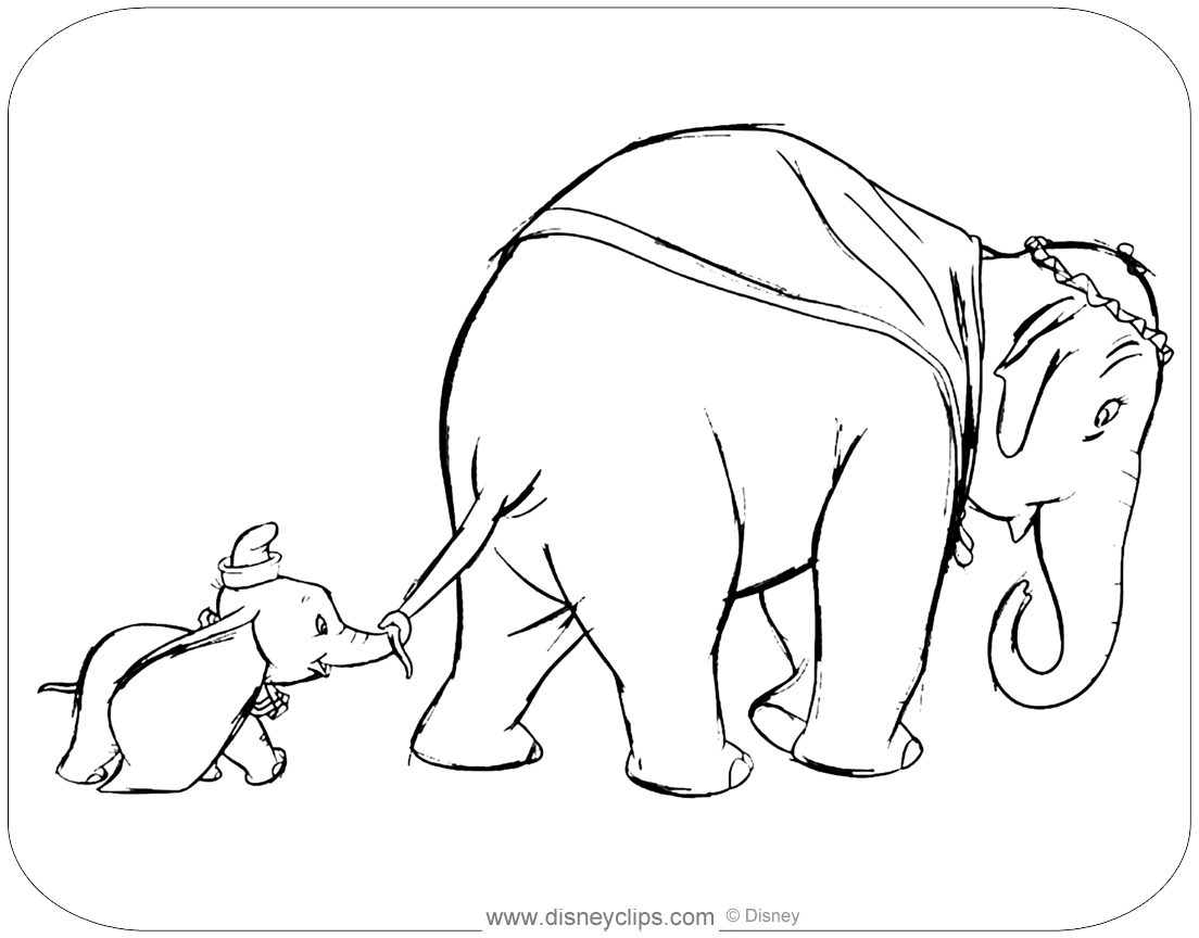 Dumbo Coloring Pages 3