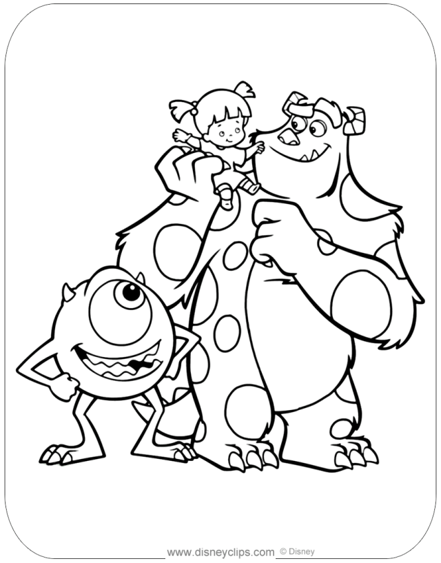 Monsters, inc. Coloring Pages  Disneyclips.com