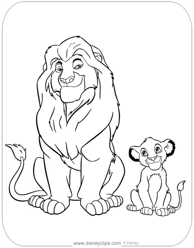 The Lion King Coloring Pages (20)  Disneyclips.com