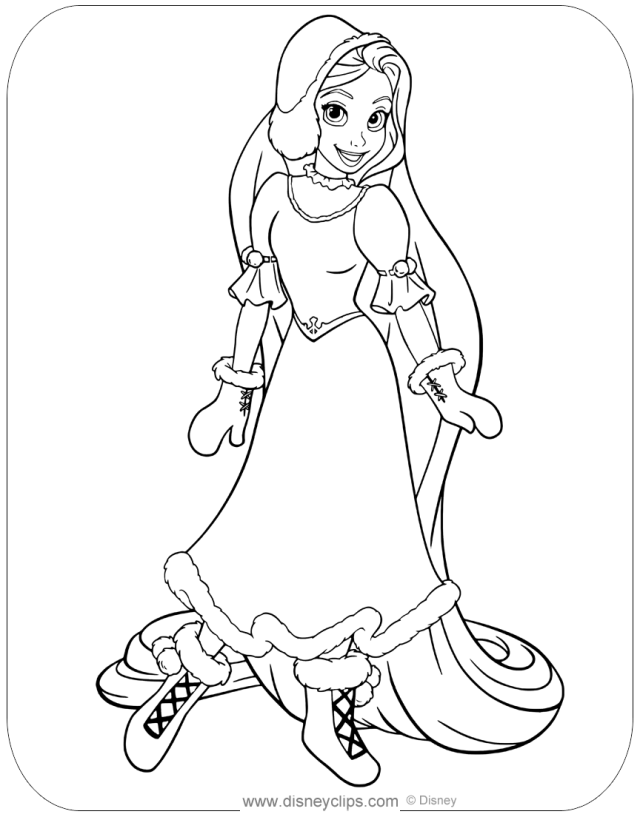 Tangled Coloring Pages  Disneyclips.com