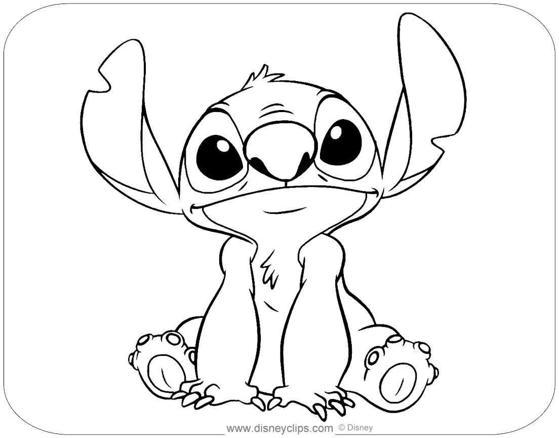 Lilo And Stitch Coloring Pages Disneyclips Com