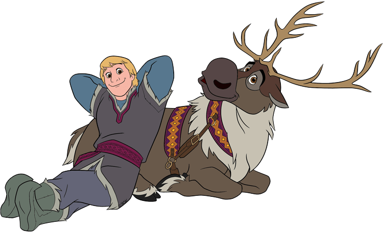 Kristoff sven clip art frozen disney clip art galore, frozen coloring pages