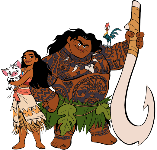 Moana costume for three