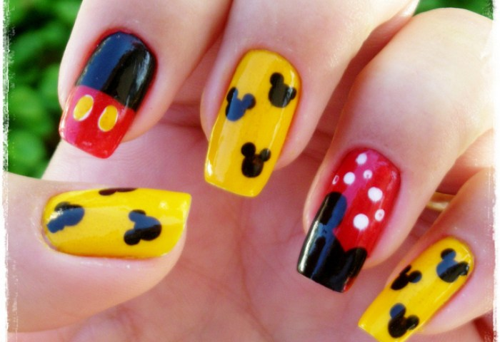 Traditional Mickey Mouse Nail Art Manicure Disney Every Day