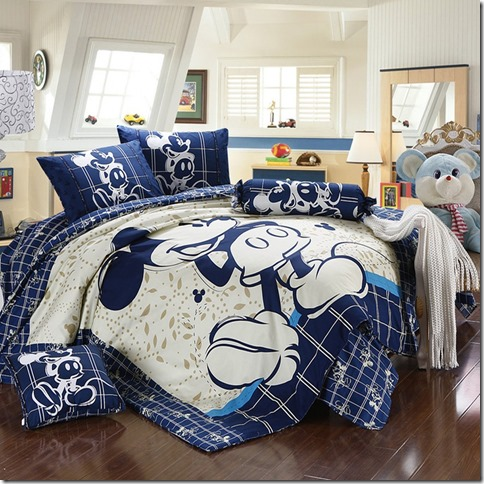 Disney Discoveries Mickey And Minnie Mouse King Queen Adults Cartoon Bedding Set
