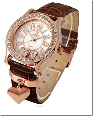 2015-01-02 01_15_46-Amazon.com_ Disney watch Mickey Heart Charm cowhide brown belt x pink gold color