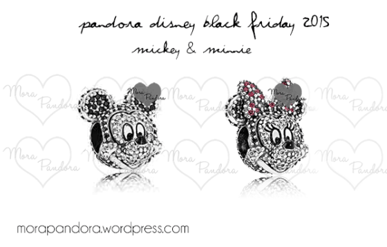 pandora minnie and mickey charm