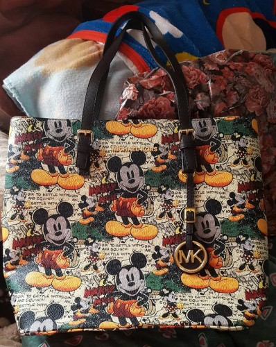 michael kors mickey mouse tote